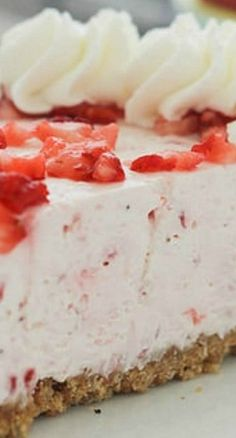 Easy Strawberry Marshmallow Pie |  The BEST no-bake strawberry pie you will ever have!