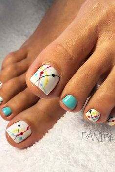 Looking for new and creative toe nail designs? Let your pedi always look perfect. We have a collection of wonderful designs for your toe nails that will be appropriate for any occasion. Be ready to explore the beauty and endless creativity of nail art! Pretty Toe Nails, Cute Toe Nails, Toe Nail Art, Nail Nail, Pretty Toes, Top Nail, Nail Glue, Beach Toe Nails, Colorful Nails