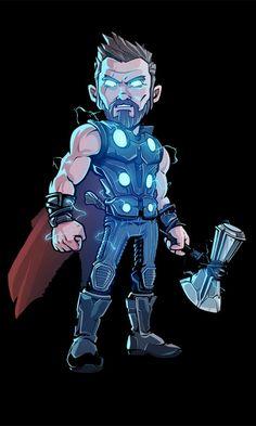 Thor, glowing suit, artwork, 480x800 wallpaper
