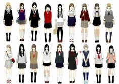 e-shuushuu kawaii and moe anime image board Japanese School Uniform, School Uniform Girls, Girls Uniforms, School Uniforms, Anime Uniform, Anime Outfits, Cool Outfits, Drawing School, Poses References