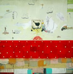Michael Cutlip, Front and Center 48×48 Mixed Media on Panel 2010
