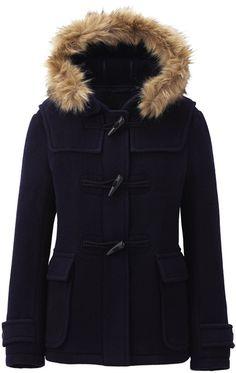 Women Wool Blended Short Duffle Coat - Lyst