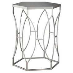 Threshold™ Metal Accent Table - Silver : Target