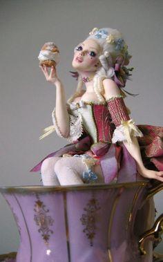 Rococo Tea Time - Nicole West Fantasy Art