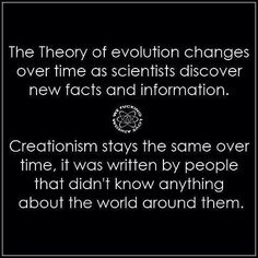 To be fair creationism has changed a bit, or rather splintered with one part remaining the same and a few others changing slightly in an attempt to better fit a slightly different but still square peg into a round hole.