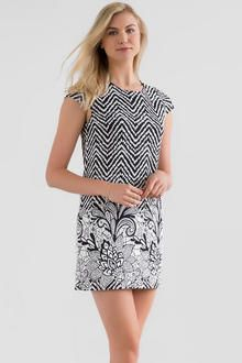 Roesner Printed Shift Dress
