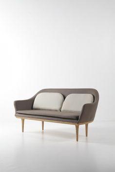 Lunar Sofa by Peter Bundgaard Rutzou and Signe Bindslev Henriksen for Stellarworks Home Decor Furniture, Sofa Furniture, Home Furnishings, Modern Furniture, Furniture Design, Divan Sofa, Settee Sofa, Armchair, Sofas For Small Spaces