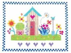 from The Stitching Shed ITS A GIRL CUSHION cross stitch cushion cushion kit Its a girl sampler kit Stitch a Gift Cross Stitch Kit