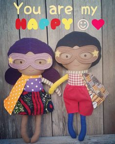 Day 17 #craftynov challenge: #happy; YOU are my happy!dolls are available; click link in bio #lalobastudio #superhero #africandoll #afrodoll #africanamerican #kids #blacksuperman #wonderwoman #marvelcomics #comics #etsy #etsykids #cape #youaremyhappy #fabricdolls #imaginaryplay #letthembelittle #childhoodunplugged #superherogirl #dollsanddaydreams #sewingismytherapy