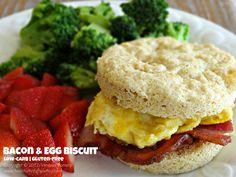 Easy Breakfast Biscuit | #lowcarb, #paleo, #primal