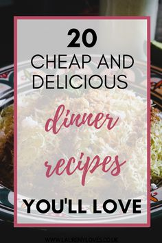 20 delicious dinner recipes you need to try. Read this and find 20 cheap dinner ideas to try tonight. Hearty and healthy dinner ideas that won't break the bank. For quick and easy dinner recipes you'll love click this and cook up something tasty! #dinnerrecipes #dinnerideas #easydinnerrecipes Cheap Easy Meals, Cheap Dinners, Cooking For One, Delicious Dinner Recipes, Easy Recipes, Food To Make, Dinner Ideas, Good Food, Tasty