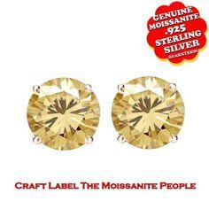"1/4 Ct Genuine Moissanite 14K Gold Stud Earrings ""Mother\'s Day Gift"". Starting at $99"