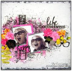 "Layout by More Than Words DT member Di Garling inspired by the January ""Personality"" & ""Selfie"" Main Challenge. More details at http://morethanwordschallenge.blogspot.ca/2016/01/january-main-challenge-personality.html #morethanwords #mtwchallenge #morethanwordschallenges #mtw"
