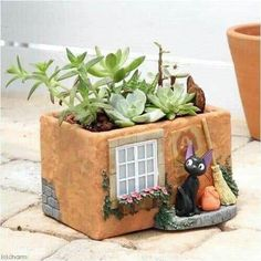 adobe house planter click the image or link for more info. Clay Houses, Ceramic Houses, Ceramic Clay, Ceramic Flower Pots, Ceramic Planters, Planter Pots, Adobe Haus, Clay Projects, Projects To Try
