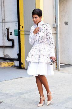 Princess Deena Al Juhani Abdulaziz -Looking every bit the Princess in a crocheted-peplum look.