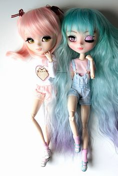 Pullip My Melody & Pullip MIO-kit Olive (makeup by me) My Melody, My Girl, Kitty, Dolls, Kitten, Kitty Cats, Puppet, Doll, Cat