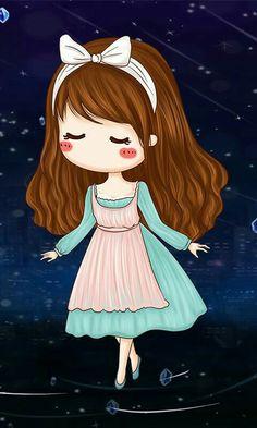 Imagen de baby girl, doll, and background Cute Couple Cartoon, Cute Couple Art, Girl Cartoon, Cartoon Art, Cute Cartoon, Kawaii Chibi, Cute Chibi, Anime Chibi, Cute Pastel Wallpaper
