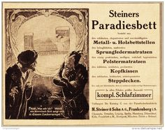 Original-Werbung/ Anzeige 1910 - STEINERS PARADIESBETT /FRANKENBERG /WIEN /MOTIV…