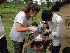 Dentist help Sapana Village Nepal.