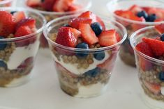 Fruit+Yogurt Parfait: Rather than using granola or oats, try a little cooked quinoa like Grecian Delight suggests!