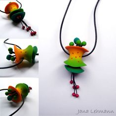 polymer clay - I made these pendants after Christine Dumont's great workshop.
