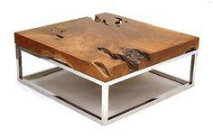 tree stump coffee table surface