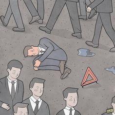 """Gudim Anton's humorous comic strips take a fresh perspective on the mundane"", It's Nice That"
