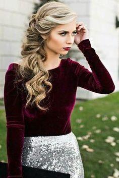 Peinados con estilo para esta Navidad