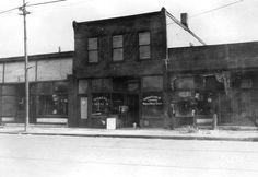 Cleveland, Buckeye Road - 8400 Block  East side of 8400 block of Buckeye Rd., location of George Lejko Violin Shop and the Buckeye Furniture Co. (sign on window: Magyar Bútor Üzlet).  Photograph Date  1926