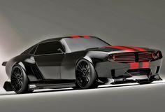 Pontiac Firebird TT Black Edition Concept by Circassian designer Kasim Tlibekov brutal ode to American muscle