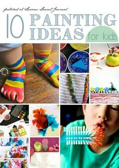10 painting ideas for kids.