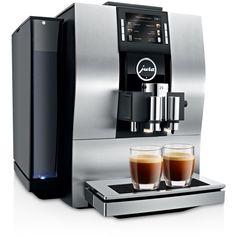 Jura Z6 Super Automatic Espresso Maker ($3,500) ❤ liked on Polyvore featuring home, kitchen & dining, small appliances, aluminum, coffee espresso cappuccino maker, espresso maker, jura espresso machine, espresso coffee machine and coffee cappuccino maker