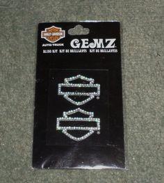 Harley-Davidson Motorcycles Gemz Bar Shield Bling Kit Auto/Truck Stickers, NIP!  #ChromaGraphics