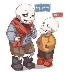 babybones papyrus and sans | Tumblr