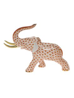 Herend Elephant w/ Tusks Rust by Herend from Corzine & Co.