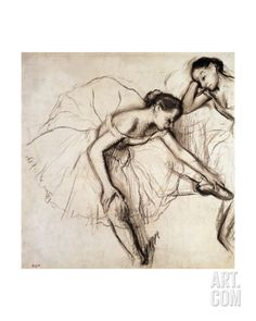 Two Dancers Resting Giclee Print by Edgar Degas at Art.co.uk