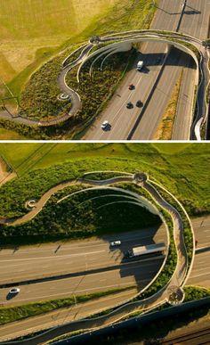 Beautiful green bridge - apparently not in China, but a Land Bridge @ Fort Vancouver, Washington