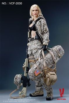 1//6 Tactical Female Body Camouflage Combat Clothes Suit for 12/'/' Figure #2