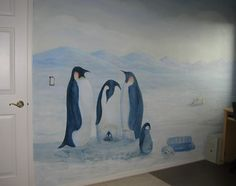 I would love a penguin mural on the wall in the nursery.