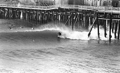 "westside-historic: "" The one and only Miki Dora surfing the cove in Santa Monica in the early '70s. """