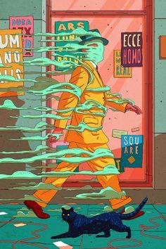 Freedom on behance pop art wallpaper, illustration story, freedom drawing, freedom artwork, Art Pop, Psychedelic Art, Arte 8 Bits, Acid Art, Pop Art Wallpaper, Japon Illustration, Pop Art Illustration, Masks Art, Hippie Art