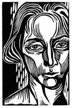 Natalia Moroz  'Self Portrait', 2007 Linoleum Print Open Edition