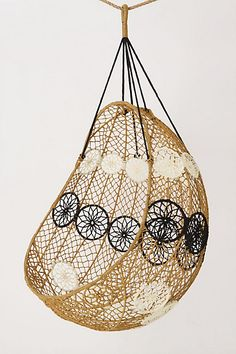 Knotted Melati Hanging Chair - maybe we need this for the cubby :)