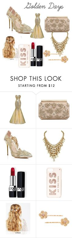 """Golden Days"" by theperfectstorm ❤ liked on Polyvore featuring Oscar de la Renta, Christian Dior, Kate Spade, ASOS and LC Lauren Conrad"