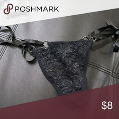 Black Lace Side-Tie Panty Side-tie panty  Brand new, in plastic wrapper  Adjustable with side ties, one size fits all  Red ones available in separate listing ❌ No trades ❌ No offers unless you've purchased from me before or plan to bundle. Check my shop discount for current bundle offers. Intimates & Sleepwear Panties