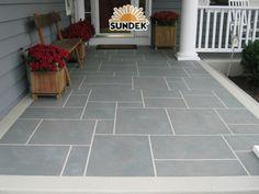 front porch and sidewalk ideas | european_flooring,_tuscan,_custom_slate_pattern,_porch,_walkway,_front ...