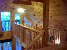 adding a catwalk to a vaulted ceiling Summer Cabins, Off Grid Cabin, Mountain House Plans, Rose Cottage, Bedroom Loft, Upper Deck, Goose Bay, Building A House, New Homes
