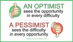 Wise words about being an optimist.