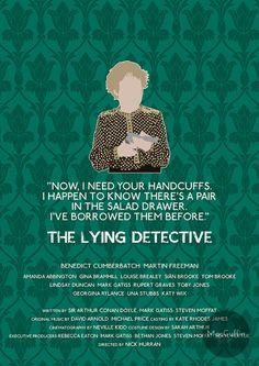 The Lying Detective - Mrs Hudson by MacGuffin Designs Available to buy here: http://www.etsy.com/uk/listing/175338477/sherlock-friends-edition-poster-choose and here: http://society6.com/product/the-lying-detective-mrs-hudson_print