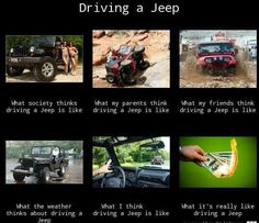 Driving a Jeep